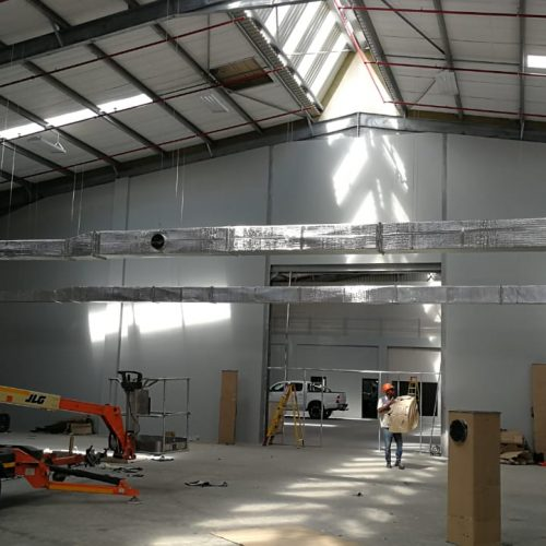 Cleanroom Technologies Cleanroom being Built